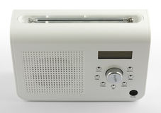 ψηφιακό ραδιο λευκό Στοκ φωτογραφίες με δικαίωμα ελεύθερης χρήσης