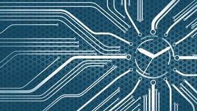 Ψηφιακό ρολόι μικροκυκλωμάτων Διανυσματική απεικόνιση