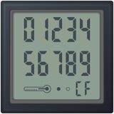 Ψηφιακό ρολόι ρολογιών αρίθμησης, με τους διαφορετικούς αριθμούς Στοκ Εικόνα