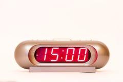 Ψηφιακό ρολόι 15:00 στοκ εικόνα με δικαίωμα ελεύθερης χρήσης