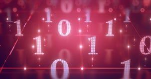 Ψηφιακό σκηνικό 4k UHD υποβάθρου στοιχείων κώδικα υπολογιστών διανυσματική απεικόνιση