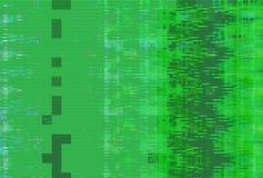 Ψηφιακό σχέδιο οθόνης δυσλειτουργίας πράσινο, διαστρέβλωση διανυσματική απεικόνιση