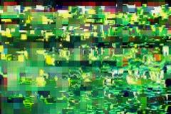 Ψηφιακό σχέδιο οθόνης δυσλειτουργίας πράσινο, περίληψη απεικόνιση αποθεμάτων
