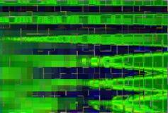 Ψηφιακό σχέδιο οθόνης δυσλειτουργίας πράσινο, περίληψη grunge ελεύθερη απεικόνιση δικαιώματος
