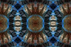 Ψηφιακό σχέδιο τέχνης, καρυκεύματα σε έναν bazaar που βλέπει μέσω του καλειδοσκόπιου Στοκ Εικόνα