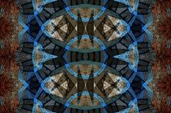 Ψηφιακό σχέδιο τέχνης, καρυκεύματα σε έναν bazaar που βλέπει μέσω του καλειδοσκόπιου Στοκ Εικόνες