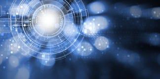 Ψηφιακό σχέδιο υποβάθρου τεχνολογίας με το διάστημα αντιγράφων διανυσματική απεικόνιση