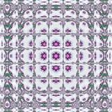 Ψηφιακό σχέδιο φαντασίας του σύγχρονου τετραγώνου κεραμιδιών με το τετραγωνικό πλαίσιο Στοκ εικόνες με δικαίωμα ελεύθερης χρήσης