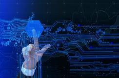 Ψηφιακό σχέδιο συμπίεσης χεριών Στοκ Εικόνες