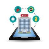 Ψηφιακό σχέδιο apps Smartphone και ξενοδοχείων Στοκ Φωτογραφίες