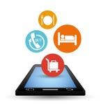 Ψηφιακό σχέδιο apps Smartphone και ξενοδοχείων Στοκ Φωτογραφία