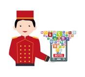 Ψηφιακό σχέδιο apps Smartphone και ξενοδοχείων Στοκ Εικόνες
