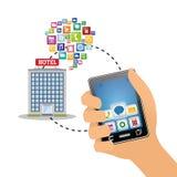 Ψηφιακό σχέδιο apps Smartphone και ξενοδοχείων Στοκ εικόνες με δικαίωμα ελεύθερης χρήσης