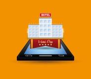 Ψηφιακό σχέδιο apps Smartphone και ξενοδοχείων Στοκ φωτογραφίες με δικαίωμα ελεύθερης χρήσης