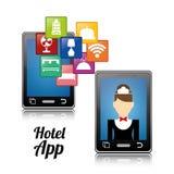 Ψηφιακό σχέδιο apps Smartphone και ξενοδοχείων Στοκ Εικόνα