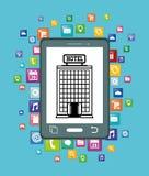 Ψηφιακό σχέδιο apps Smartphone και ξενοδοχείων Στοκ φωτογραφία με δικαίωμα ελεύθερης χρήσης