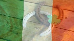 Ψηφιακό σύνθετο της ψηφιακά παραγμένης εθνικής σημαίας της Ιρλανδίας απεικόνιση αποθεμάτων