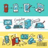 Ψηφιακό σύνολο εμβλημάτων συσκευών Στοκ εικόνα με δικαίωμα ελεύθερης χρήσης