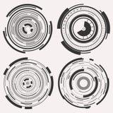 Ψηφιακό σύνολο κύκλων Στοκ εικόνα με δικαίωμα ελεύθερης χρήσης
