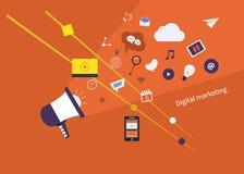 Ψηφιακό σύνολο μάρκετινγκ απεικόνιση αποθεμάτων