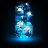 Ψηφιακό σύστημα παγκόσμιων επικοινωνιών Στοκ εικόνα με δικαίωμα ελεύθερης χρήσης