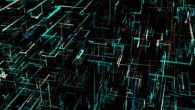 Ψηφιακό τεχνητό νευρικό δίκτυο τρεις-διάστασης διανυσματική απεικόνιση