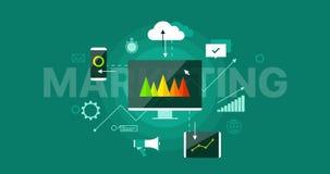 Ψηφιακό τεχνολογίας μάρκετινγκ βίντεο βρόχων παρουσίασης infographic απόθεμα βίντεο