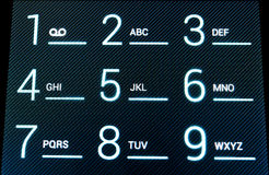 ψηφιακό τηλέφωνο πληκτρολογίων στοκ φωτογραφία