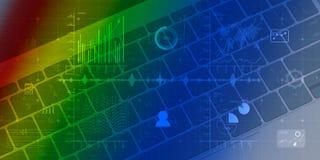 Ψηφιακό υπόβαθρο με στενό επάνω πληκτρολογίων στο υπόβαθρο διανυσματική απεικόνιση