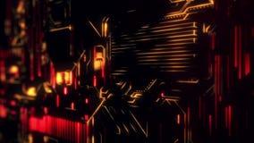 Ψηφιακό υπόβαθρο τεχνολογίας Cyber - κόκκινο πορτοκάλι ελεύθερη απεικόνιση δικαιώματος