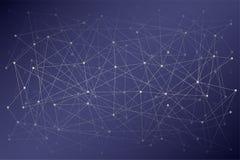 Ψηφιακό υπόβαθρο της επιστήμης ή Blockchain Στοκ Φωτογραφίες