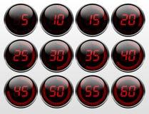 Ψηφιακό χρονόμετρο διανυσματική απεικόνιση