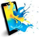 Ψηφιακό χρώμα ταμπλετών Στοκ Εικόνα