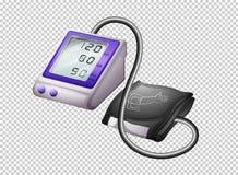 Ψηφιακό όργανο ελέγχου πίεσης του αίματος στο διαφανές υπόβαθρο διανυσματική απεικόνιση