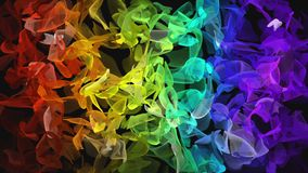 Ψηφιακό fractal χρώματος ουράνιων τόξων που ρέει πέρα από το Μαύρο απεικόνιση αποθεμάτων