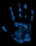 Ψηφιακό Handprint Στοκ φωτογραφίες με δικαίωμα ελεύθερης χρήσης