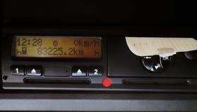 Ψηφιακό tacograph για τα φορτηγά στην Ευρώπη Στοκ φωτογραφία με δικαίωμα ελεύθερης χρήσης