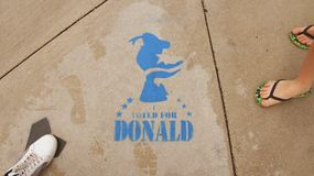 Ψηφισμένος για το Donald Στοκ Εικόνες