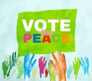 ψηφοφορία ειρήνης Στοκ Φωτογραφίες