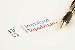 ψηφοφορία εκλογής Στοκ φωτογραφία με δικαίωμα ελεύθερης χρήσης