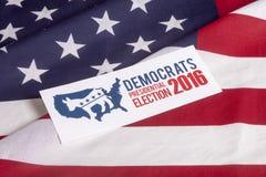 Ψηφοφορία και αμερικανική σημαία εκλογής δημοκρατών Στοκ Φωτογραφίες