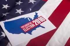 Ψηφοφορία και αμερικανική σημαία προεδρικών εκλογών Στοκ εικόνες με δικαίωμα ελεύθερης χρήσης