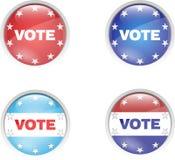 ψηφοφορία καρφιτσών κουμ& διανυσματική απεικόνιση