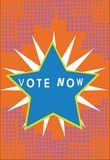 Ψηφοφορία κειμένων γραφής τώρα Έννοια που σημαίνει την επίσημη ένδειξη της επιλογής δύο ή περισσότερων σχεδίων δράσης που οριοθετ απεικόνιση αποθεμάτων