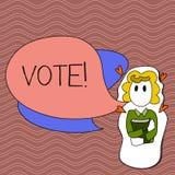 Ψηφοφορία κειμένων γραψίματος λέξης Επιχειρησιακή έννοια για την τυποποιημένη απόφαση σχετικά με τα σημαντικά θέματα που εκλέγουν απεικόνιση αποθεμάτων