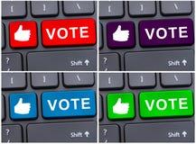 Ψηφοφορία μέσω της έννοιας Διαδικτύου Στοκ φωτογραφίες με δικαίωμα ελεύθερης χρήσης