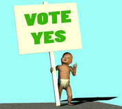 ψηφοφορία ναι Στοκ εικόνα με δικαίωμα ελεύθερης χρήσης