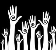 ψηφοφορία ομάδων χεριών Στοκ Εικόνες