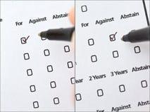 ψηφοφορία πληρεξούσιου Στοκ Εικόνες