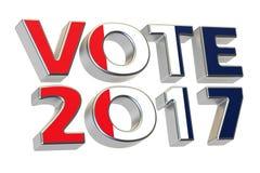 Ψηφοφορία 2017 στη Γαλλία Γαλλική έννοια προεδρικών εκλογών, τρισδιάστατη ελεύθερη απεικόνιση δικαιώματος